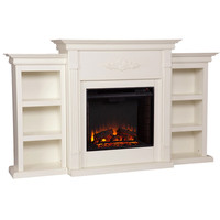 Upton Home Dublin Ivory Electric Fireplace | Overstock.com Shopping - The Best Deals on Indoor Fireplaces