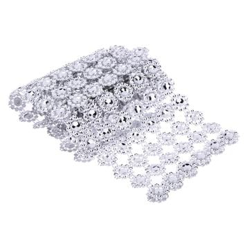 1 Yard 6 Roll Silver Rhinestone Wedding Silver Rhinestone Daisy Flower Diamond Mesh Decoration Centerpiec Rustic Wedding Decor