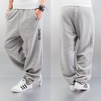 Dangerous DNGRS Soft Dream Leila Ladys Logo Sweat Pants Heather Grey von Def-Shop.com