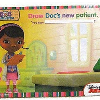 Disney Junior Wipe-Clean Activity Board Doc McStuffins Draw Next Patient