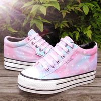 Harajuku kawaii galaxy canvas shoes
