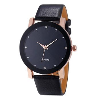 SmileleeGolden Luxury Top Men's Watch Black Business Quartz Sport Military Stainless Steel 12-hour Dial Leather Band Wristwatch