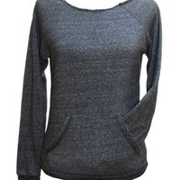 YogaColors Flash Dance Black Heart Boatneck Eco-Fleece Sweatshirt