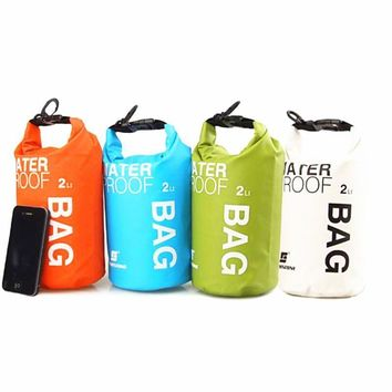 2L Ultra-portable Outdoor Travel Waterproof Dry Bag Pouch Phone Camera Storage Bag for Camping Boating Kayaking Rafting Fishing
