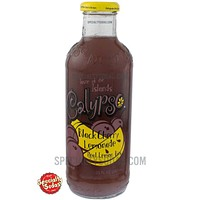 Calypso Black Cherry Lemonade 20oz Glass Bottle