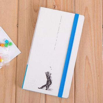 Fromthenon Cute Cat Sky Notebook Personal Diary Business Elastic Binder Notebook Trend Gift Stationery Office & School Supplies