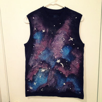 Galaxy muscle tank t-shirt