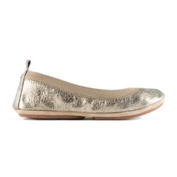 Samara Muted Gold Metallic Flats