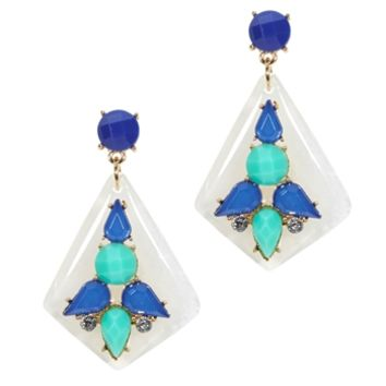 Cara Faceted Stone Statement Earrings at Von Maur