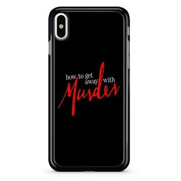 How To Get Away With A Murderer iPhone X Case