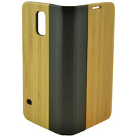 Wooden Case Samsung Galaxy S5 Mix Leather Wood Cell Phone Ca Beige
