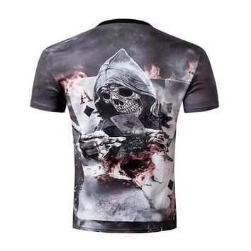 Skull Poker Men's Shirt