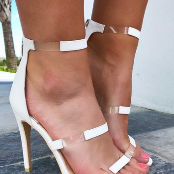 Let's Be Clear Heels: White