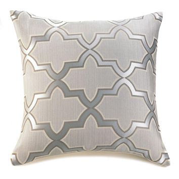 Silver Pattern Throw Pillow