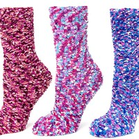 Women's Multi-Bobble Fuzzy Socks, Optional Gift Box