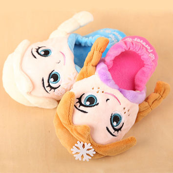 Lovely Princess Cotton Creative Toddler Children Shoes Winter Home Casual Slippers [6048796673]