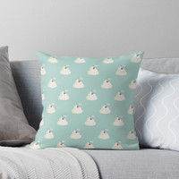 'Cherry on top pattern' Throw Pillow by EuGeniaArt