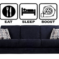 Eat Sleep Boost Wall Decal Street Nismo Racing power GDM Wall art Tuned Up Ride Turbo GT Supercharged Sport Wall Art Wall Wall Sticker tr177