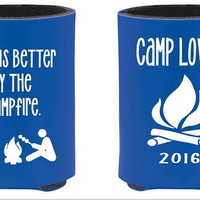 Camping can coolers, Life Is Better By The CampFire, campfire, can huggers family vacation, camping summer, vacation can coolies