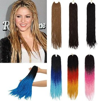 24 Inch Crochet Style Box Braids Top Synthetic Human Hair Ombre Braiding Hair US