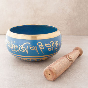 Blue Tibetan Om Singing Bowl - 4 inch, 5 inch, 6 inch