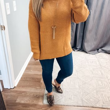 Stroll In The Sun Sweater - Mustard