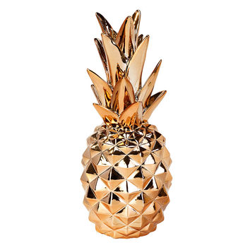 Talking Tables Modern Metallics Rose Gold Pineapple