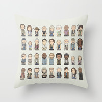 The Walking Dead Throw Pillow by Big Purple Glasses
