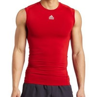 adidas Men's Techfit Cut and Sewn Sleeveless Top (Universe Red, Large)