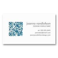 Mod Dark Blue QR CODE Business Card