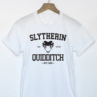 Harry Potter Slytherin Quidditch Shirt in White