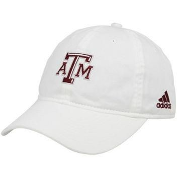 adidas Texas A&M Aggies Basic Logo Adjustable Slouch Hat - White