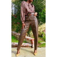 Foxy Brown Leather Pants