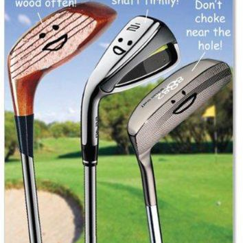 Birthday Golfing Tips Hilarious Birthday Greeting Card, Funny Birthday Card - Free Shipping