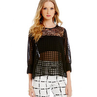 BCBGeneration Lace Poet Sleeve Top | Dillards