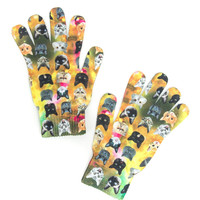 Cat Face Printed Adult Gloves