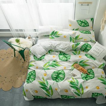 Red little mushroom Polyester Duvet Cover Set Bed Sheet Pillowcase Twin/full/queen/king Size  without quilt