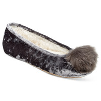 INC International Concepts Crushed Velvet Ballerina Slippers, Only at Macy's - Handbags & Accessories - Macy's