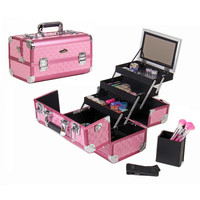 Shany Premium Collection Hot Pink Diamond Makeup Train Case | Overstock.com Shopping - The Best Deals on Makeup Cases