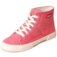 Candy Color Lace-up High-Cut Sneakers