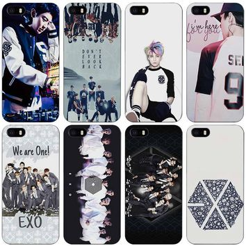 EXO planet Black Plastic Case Cover Shell for iPhone Apple 4 4s 5 5s SE 5c 6 6s 7 Plus