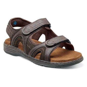 Nunn Bush Randall Men's Double-Strap Sandals (Brown)