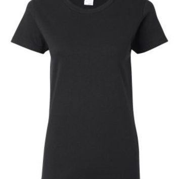 Gildan 5000L Ladies Heavy Cotton Short Sleeve T-Shirt (Black / M)