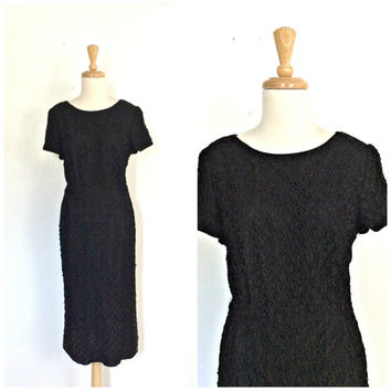 Vintage Little Black Dress - 60s party dress - cocktail dress - 1960s dress - Korell - M L