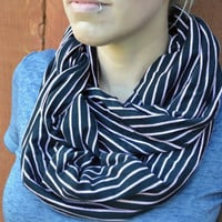 Spring infinity scarf, cowl, neck tie, summer fashion