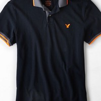 AEO Men's Tipped Polo (Navy)