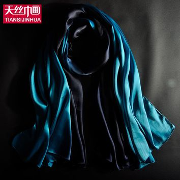 Hot Fashion Shawl Scarf Foulard Glitter Ombre Hijab Neck Warmer patchment Silk Scarf Women Girls Cape 60*180 Long Headband