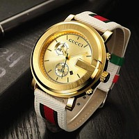 GUCCI Fashion Ladies Men Watch Little Ltaly Stylish Watch G-PS-XSDZBSH Gold