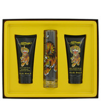 Ed Hardy by Christian Audigier Gift Set -- 1.7 oz Eau De Toilette Spray + 3.3 oz Shower Gel + 3.3 oz Body Lotion (Men)