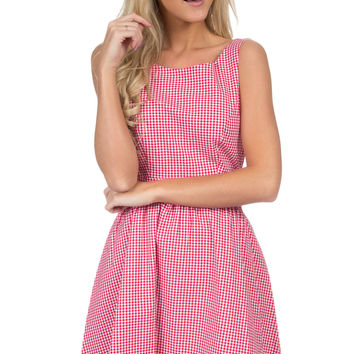 The Emerson Gingham Dress - Red